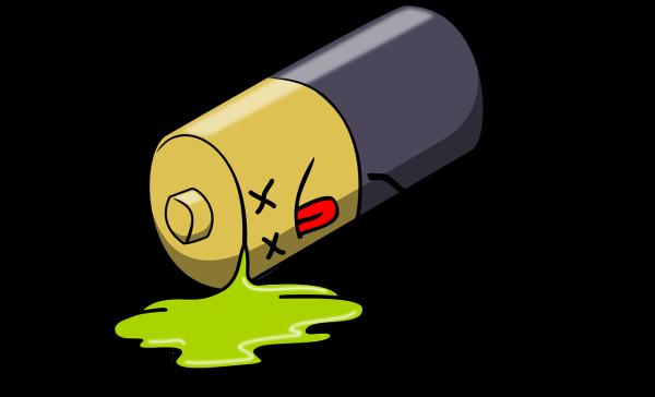 Lege Batterij